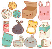 Set of Cute Rubbish. Vector file EPS10 Stock Photo