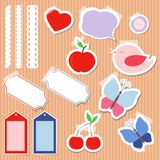 Set of cute scrapbook elements Stock Photos