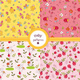 Set of cute seamless patterns Royalty Free Stock Photography