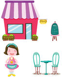 Set of cute shop Royalty Free Stock Photography
