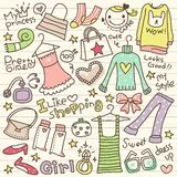 Set of cute shopping doodle Royalty Free Stock Photos