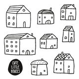 Set of cute sketch houses  on white Stock Photo