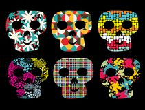 Set of cute skulls. Stock Image