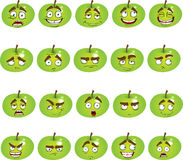 Set of cute smiles apples Stock Photography