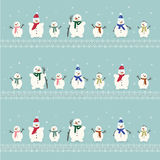 Set of cute snowman Royalty Free Stock Photo