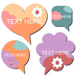 Set of cute speech bubbles Royalty Free Stock Photos