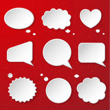 Set of cute speech bubbles Stock Photography