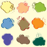 Set of cute speech illustrator vector Royalty Free Stock Images