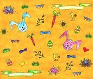 Set of cute spring elements for Easter design vector illustration
