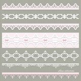Set of cute straight lace in pastel colors. Royalty Free Stock Photography