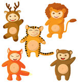 Set of cute suits. Of animals. Part 2 royalty free illustration