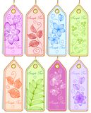 Set of cute tags Royalty Free Stock Images