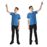 Set of cute teenager boy over white isolated background Stock Photography