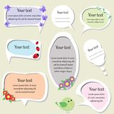 Set of cute text frames. Vector illustration Stock Photography