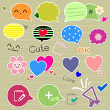 Set of cute thought bubbles Stock Photo