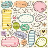 Set of Cute Thought Bubbles 1 Stock Photos