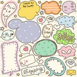 Set of Cute Thought Bubbles 3 Royalty Free Stock Photography