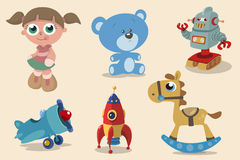 Set cute toys Stock Images
