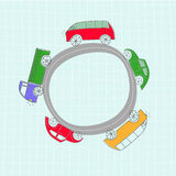 Set of cute vector cars Stock Images