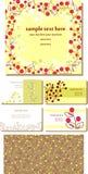 Set of cute vector designs Royalty Free Stock Photos