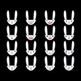Rabbit Handdrawn Emoticons White 4 Royalty Free Stock Image