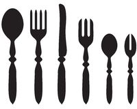 Set Cutlery Royalty Free Stock Photo