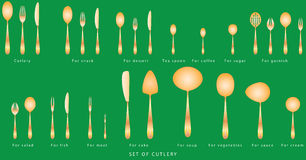 Set of cutlery Royalty Free Stock Photos
