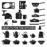 Set of cutlery icons Stock Photography