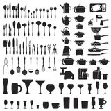 Set of cutlery icons Stock Image