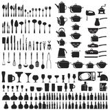 Set of cutlery icons Royalty Free Stock Images