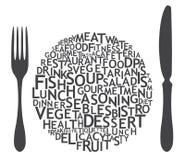 Set cutlery ikony Fotografia Royalty Free