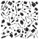 Set cutlery ikony Zdjęcie Stock