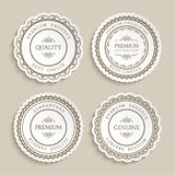 Set of cutout paper labels with ornamental border Royalty Free Stock Photo