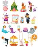 Set cyrk royalty ilustracja