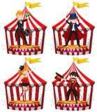 Set cyrkowi artyści estradowi ilustracji