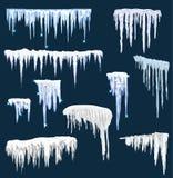 Set czapy lodowa Zima wystrój ilustracji