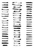 Set czarna farba, atramentu muśnięcia uderzenia ilustracji