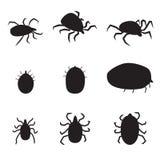 Set czarna sylwetka psiego cwelicha ikona odosobniony wektorowy illustrat ilustracji