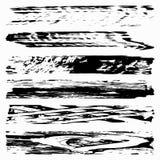 Set Czarne atramentu wektoru plamy ilustracja wektor