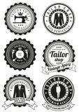 Set czarne round odznaki dla krawieckich sklepów Obrazy Royalty Free