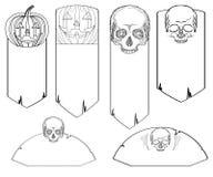 Set czarny i biały doodle sztandary Obraz Royalty Free