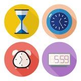 Set czas powiązane ikony Zdjęcie Royalty Free