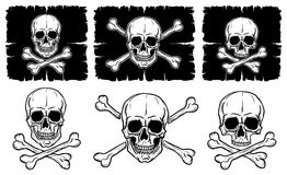 Set czaszki i Crossbones ilustracja wektor