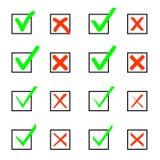 Set czek oceny i Xs Zdjęcie Stock