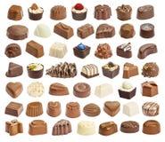Set czekoladowy candie Obrazy Royalty Free
