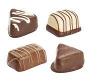 Set czekoladowy candie Fotografia Stock