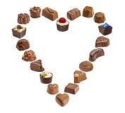 Set czekoladowy candie, czekoladowa kolekcja Zdjęcie Stock