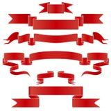 Set czerwień i srebro faborek Zdjęcia Stock