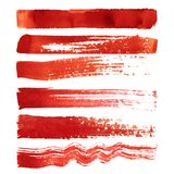 Set czerwieni muśnięcia uderzenia Obraz Stock