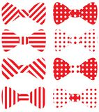Set czerwieni wektoru łęku krawaty Obraz Stock